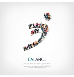 Balance people sign 3d vector