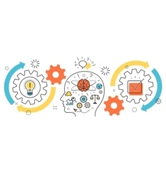 Thought process business startup idea mechanism vector