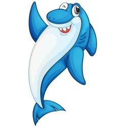 Comical shark vector image