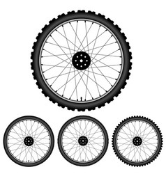Bicycle wheel isolated on white vector