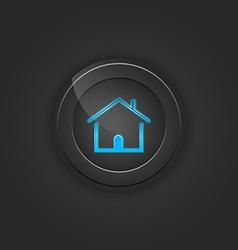 Black button house vector