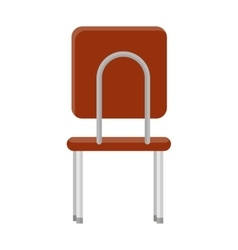 Chair in retro style icon back view vector