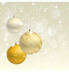 Christmas ornament background card vector