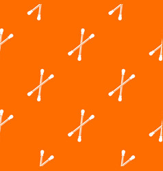 Cotton buds pattern seamless vector