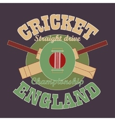 Cricket t-shirt graphic design england vector