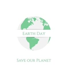 Earth day planet banner template vector