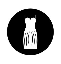 elegant female dress icon vector image vector image