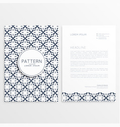 elegant letterhead design with abstract pattern vector image