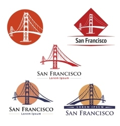 Golden Gate Bridge vector image