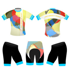 Graphics colors on sports t-shirt vector