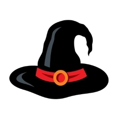 Halloween witch hat cartoon vector