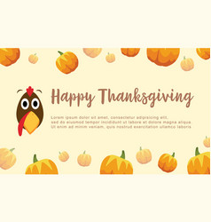 happy thanksgiving pumpkin background collection vector image