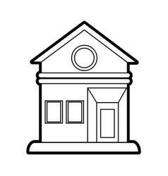 House facade silhouette vector