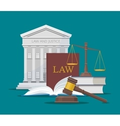 Law and justice concept in vector