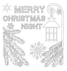 merry christmas night poster with lonely star vector image vector image