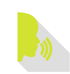 People speaking or singing sign pear icon with vector