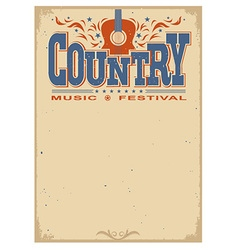 Poster music festival background with acoustic vector image vector image