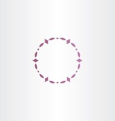 Purple circle frame design vector