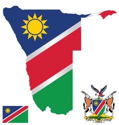 Republic of namibia flag vector
