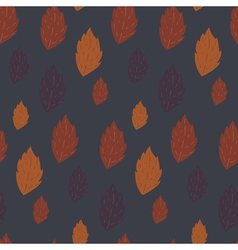 Seamless autumn pattern with falling leaves vector