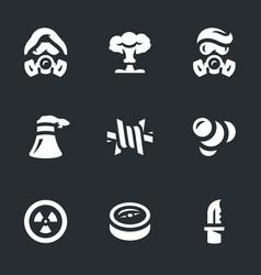 Set of post-apocalypse icons vector