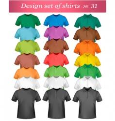 shirt set vector image vector image