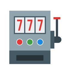 Slot machine with sevens vector