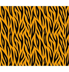Tiger skin seamless repeated texture Orange and vector image vector image