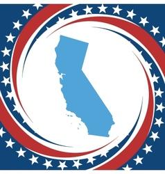 Vintage label california vector