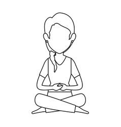 Woman practicing yoga avatar vector