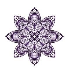 Mandala Vintage decorative element Oriental vector image