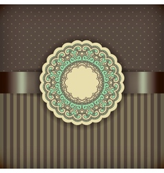 Retro brown background vector