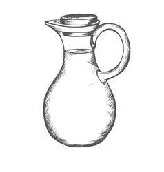 Jug pitcher jar bowl vector
