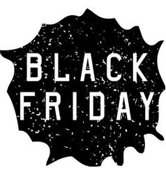 Black friday sale holiday grunge vector