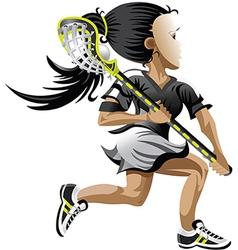 Lacrosse girl vector image