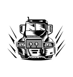 truck lorry retro vector image