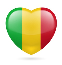 Heart icon of mali vector