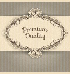 Vintage frame and grunge background vector