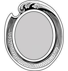 Oval ornate frame vector