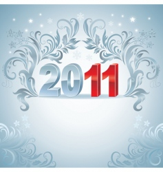 New year's card vector