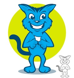 Blue Cat Cartoon vector image