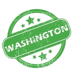Washington green stamp vector
