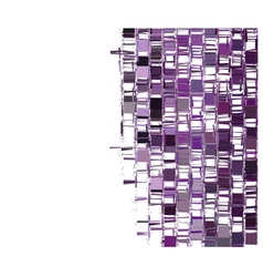 Purple fragmented abstract pattern over white vector