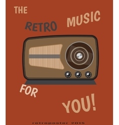 Retro radio for vintage poster vector