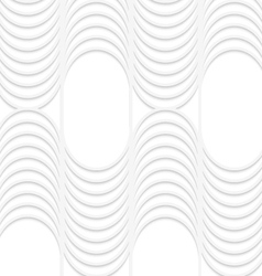 3d white striped waves with vertical grid vector