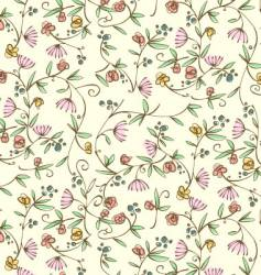 Ditsy floral seamless wallpaper vector