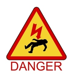 Danger electrical hazard high voltage sign vector