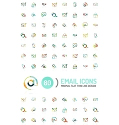 Mega set of email logos vector image