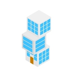 Modern building icon isometric 3d style vector