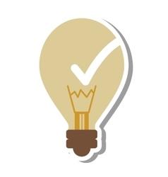 Bulb like good idea isolated icon vector